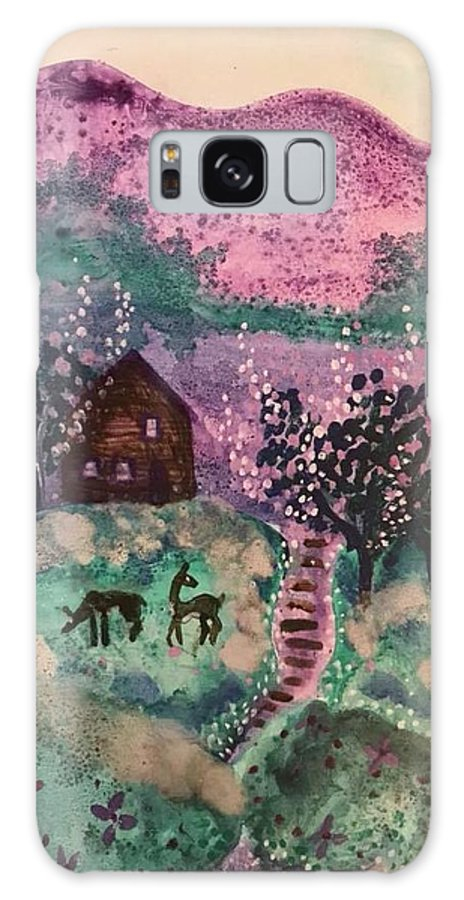 Galaxy S8 Case featuring the mixed media Peace In The Valley by Hil Eldridge