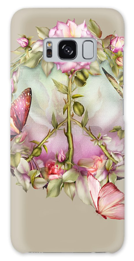 Rose Galaxy S8 Case featuring the mixed media Peace Rose by Carol Cavalaris