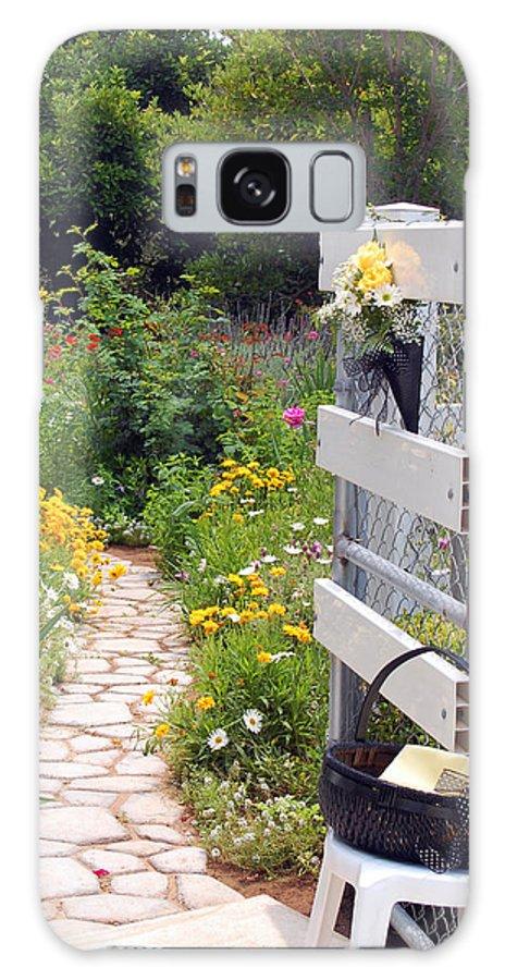 Garden Galaxy S8 Case featuring the photograph Peaceful Garden by Amy Fose
