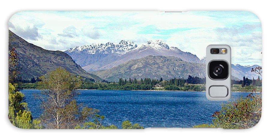 Lake Galaxy Case featuring the photograph Peaceful Lake -- New Zealand by Douglas Barnett