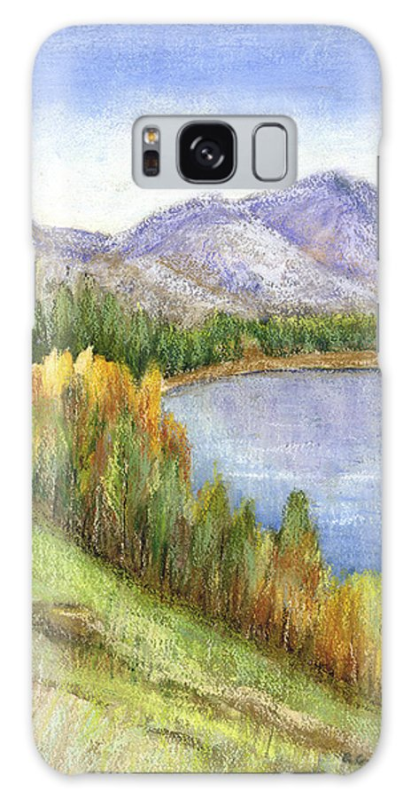 Lake Galaxy Case featuring the mixed media Peaceful Lake by Arline Wagner