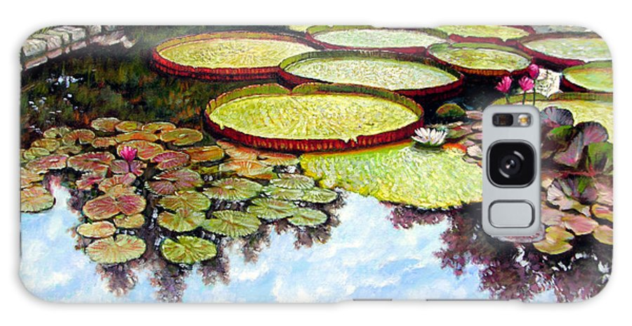 Landscape Galaxy Case featuring the painting Peaceful Refuge by John Lautermilch
