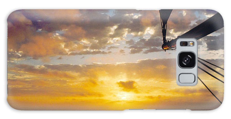 Sunset Galaxy Case featuring the photograph Peaceful Sailing by Kathy Schumann