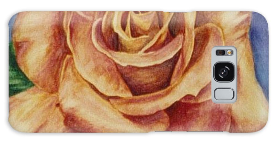 Rose Galaxy Case featuring the painting Peach Rose by Emily Young