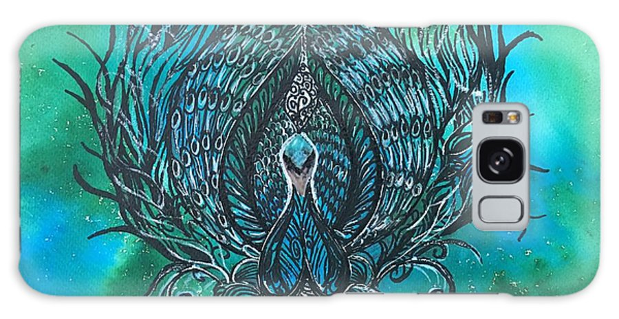 Peacock Galaxy S8 Case featuring the painting Peacocks by Sonal Kanakdande