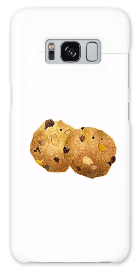 Cookies Galaxy S8 Case featuring the painting Peanut Butter Chocolate Chip Cookies by Michael Vigliotti