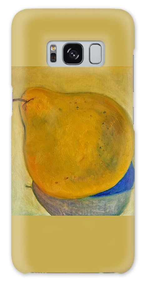 Pear Galaxy S8 Case featuring the painting Pear Solo Two by Marla McPherson