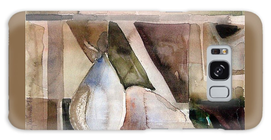 Pear Galaxy Case featuring the painting Pear Study In Watercolor by Mindy Newman