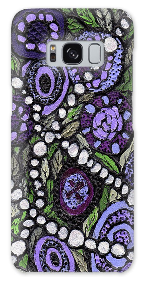 Abstract Galaxy S8 Case featuring the painting Pearls In The Garden by Wayne Potrafka