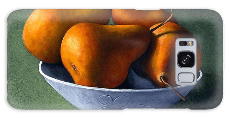 Still Life Galaxy S8 Case featuring the painting Pears In Blue Bowl by Frank Wilson