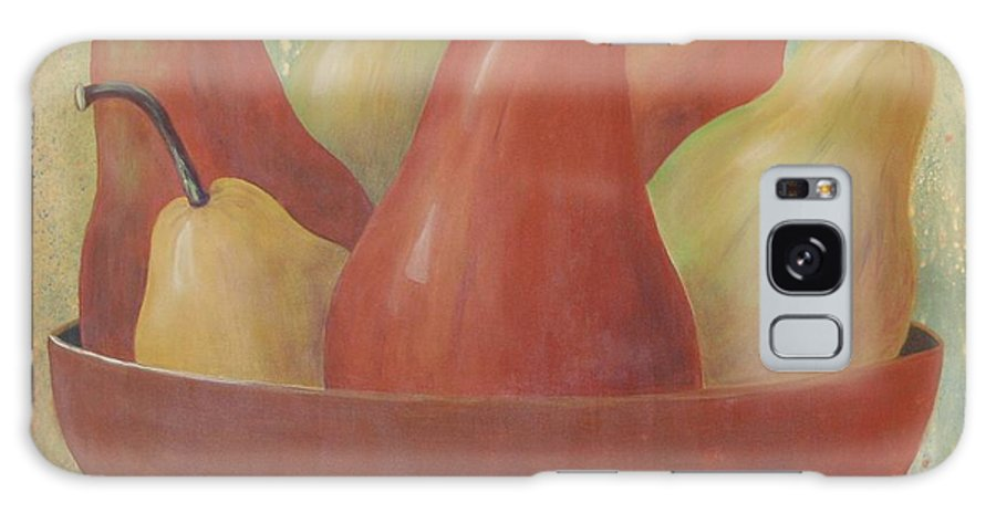 Pears Galaxy S8 Case featuring the painting Pears In Copper Bowl by Jeanie Watson