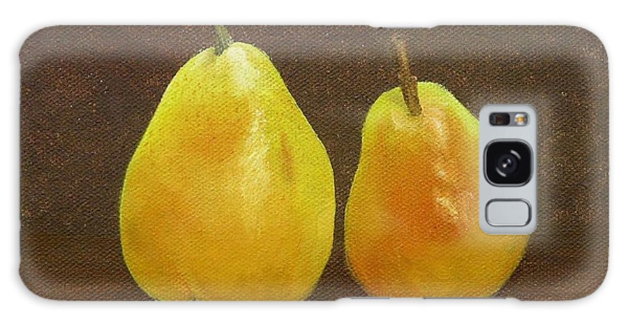Fruit Galaxy S8 Case featuring the painting Pears by Mishel Vanderten