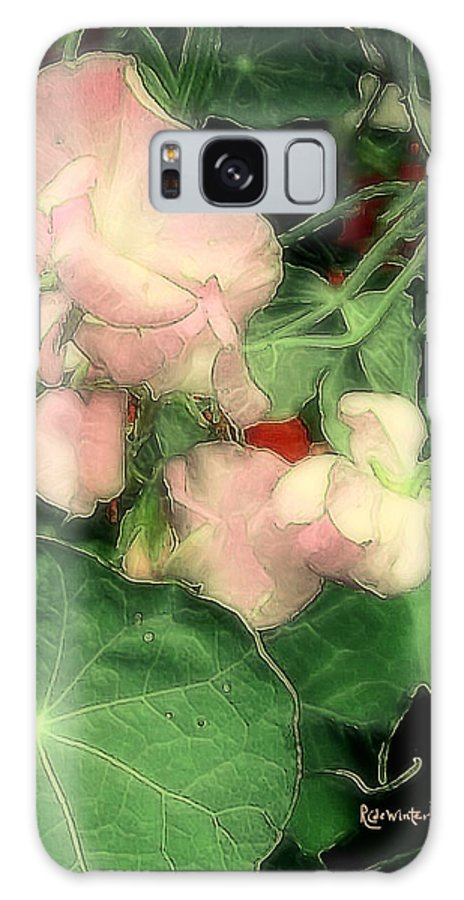 Flowers Galaxy S8 Case featuring the painting Peas Porridge by RC DeWinter
