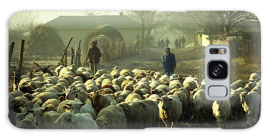 Agriculture Galaxy S8 Case featuring the photograph Peasants And Herd On The Village Path by Emanuel Tanjala