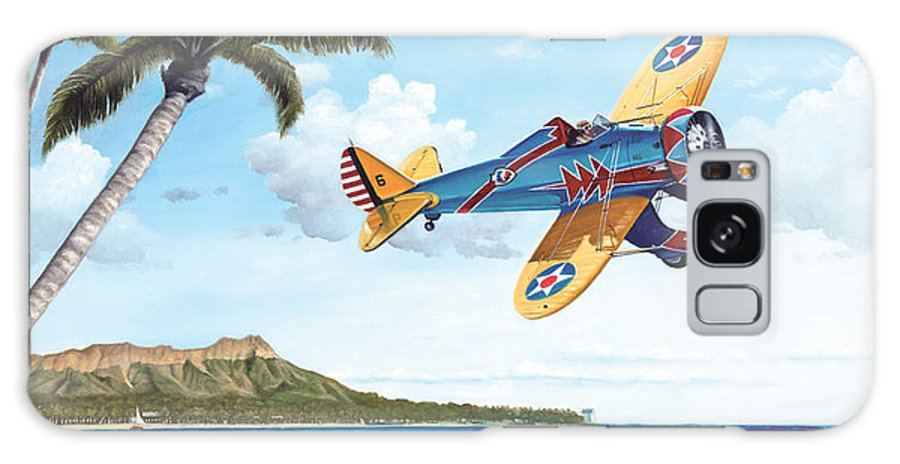 Aviation Galaxy S8 Case featuring the painting Peashooter In Paradise by Marc Stewart