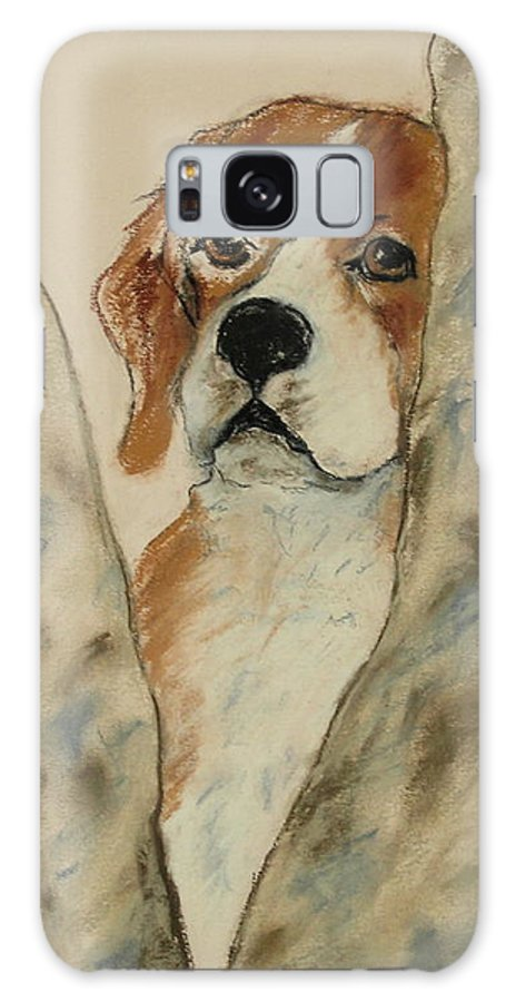 Beagle Galaxy S8 Case featuring the drawing Peek A Boo by Cori Solomon
