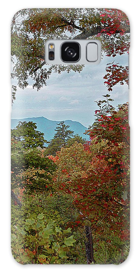 Mountains Galaxy S8 Case featuring the digital art Peeking At The Smokies by DigiArt Diaries by Vicky B Fuller