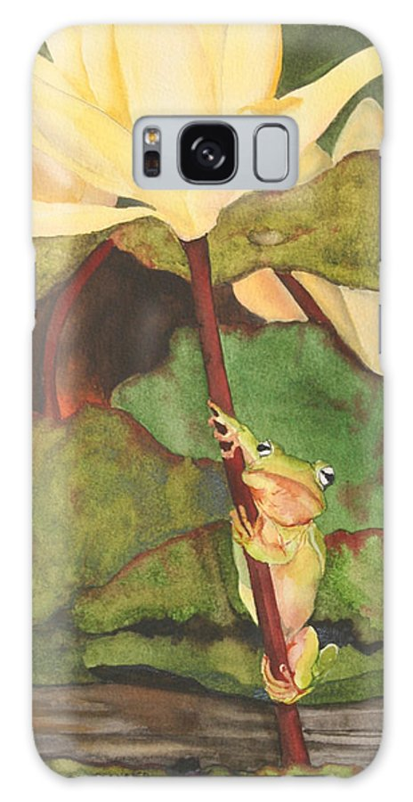 Frog Galaxy Case featuring the painting Peeping Tom by Jean Blackmer