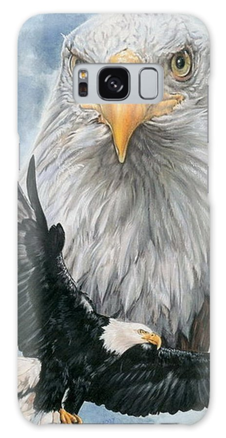 Bald Eagle Galaxy S8 Case featuring the mixed media Peerless by Barbara Keith