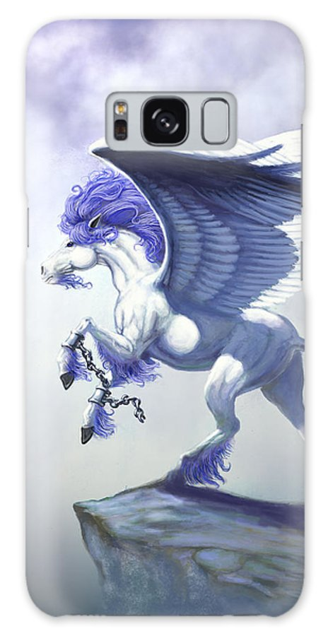 Pegasus.fantasy Galaxy S8 Case featuring the digital art Pegasus Unchained by Stanley Morrison