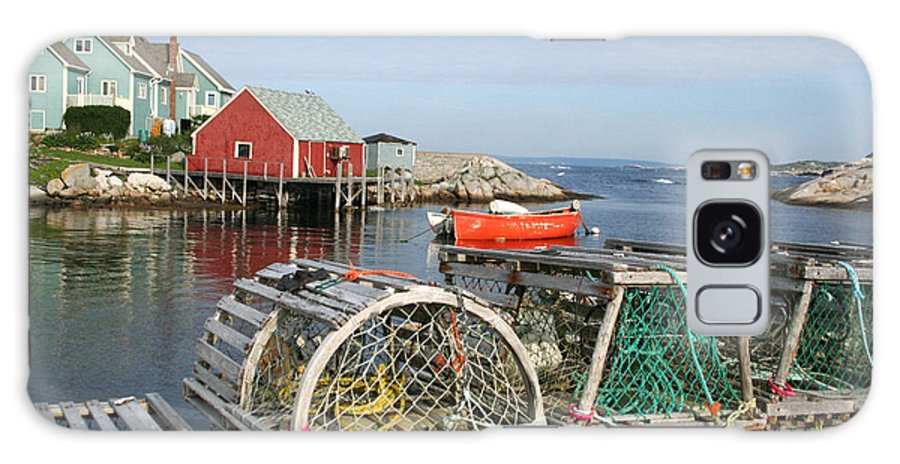 Peggy\\ Galaxy S8 Case featuring the photograph Peggys Cove And Lobster Traps by Thomas Marchessault