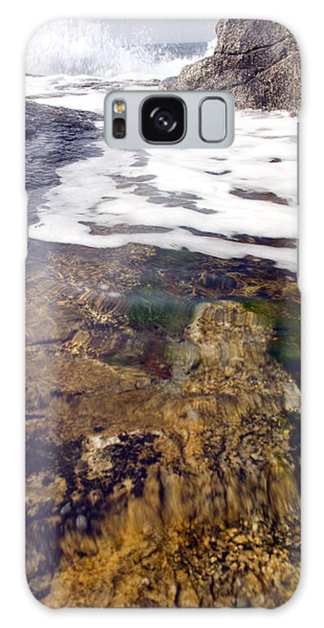 Nova Scotia Galaxy S8 Case featuring the photograph Peggy's Cove Surf Splash by Steve Somerville
