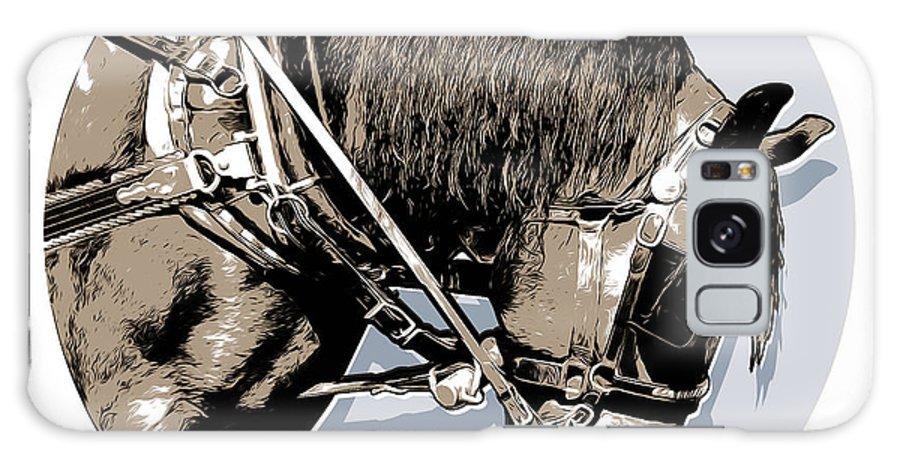 Tour Horse Galaxy S8 Case featuring the digital art Pei Tour Horse by Greg Joens
