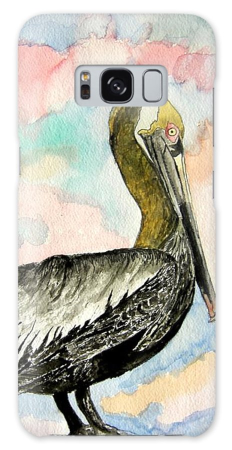 Watercolor Galaxy S8 Case featuring the painting Pelican 2 by Derek Mccrea