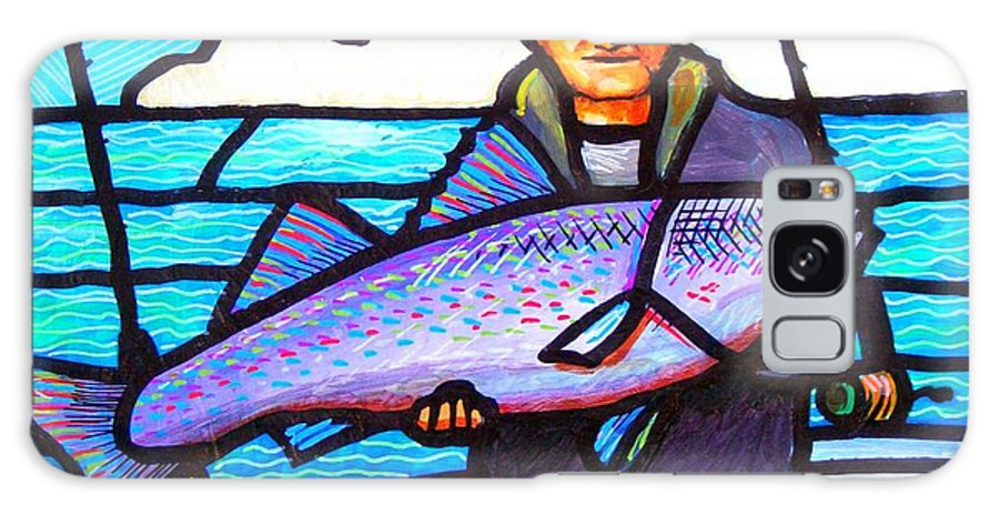 Fish Galaxy S8 Case featuring the painting Pelican Envy by Jim Harris