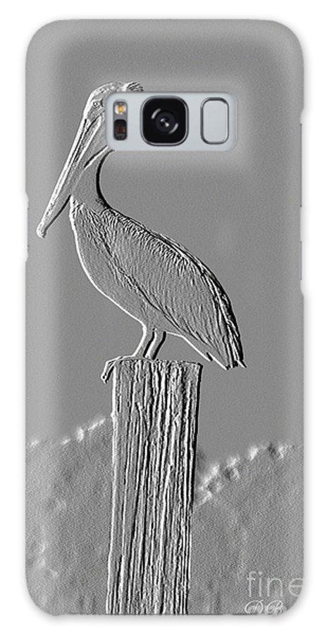 Pelican Galaxy S8 Case featuring the photograph Pelican Stoop by Donna Bentley
