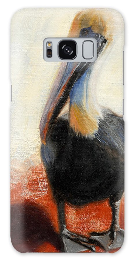 Pelican Galaxy S8 Case featuring the painting Pelican Study by Greg Neal