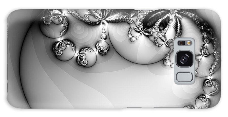 Digital Art Galaxy Case featuring the digital art Pendant In Silver by Amanda Moore