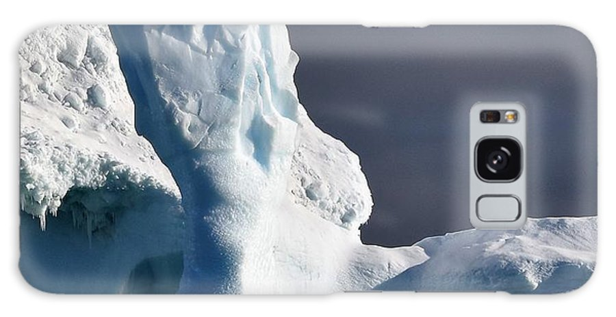 Iceberg Galaxy S8 Case featuring the photograph Penguin And Ice by Chris Hanlon