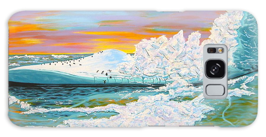 Ice Galaxy Case featuring the painting The Last Iceberg by V Boge
