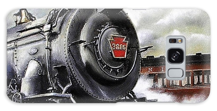 Pennsylvania Railroad Train Painting Railroad Maryland And Pennsylvania Autumn Fall Colors Steam Engine Galaxy Case featuring the painting Pennsy #3885 by David Mittner
