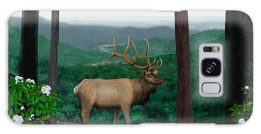 Elk Galaxy S8 Case featuring the digital art Pennsylvanian Elk by Larry Ryan