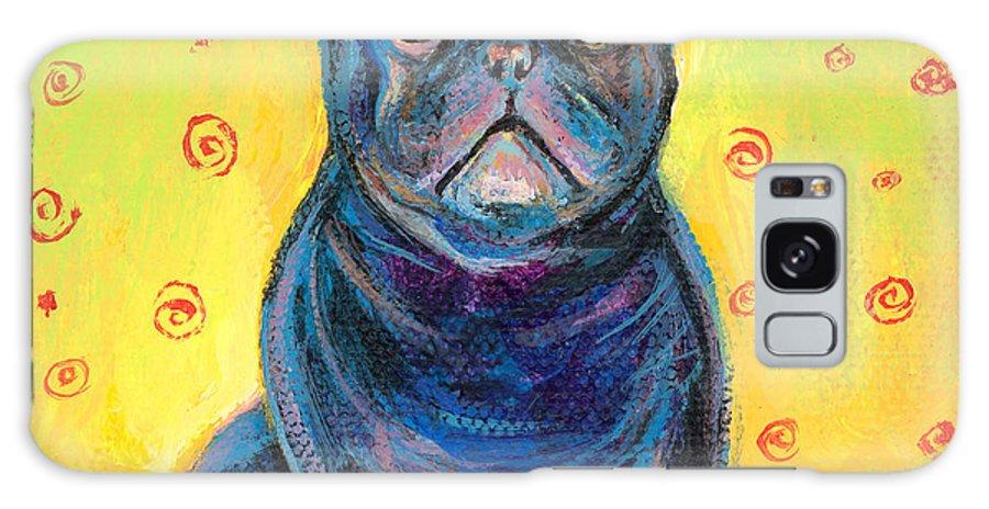 French Bulldog Art Galaxy S8 Case featuring the painting Pensive French Bulldog Painting Prints by Svetlana Novikova
