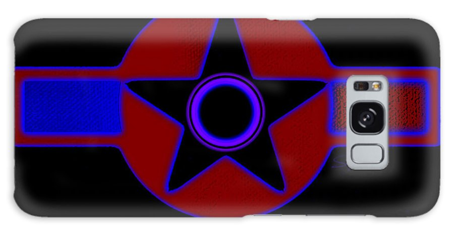 Usaaf Galaxy S8 Case featuring the painting Pentagram In Red by Charles Stuart