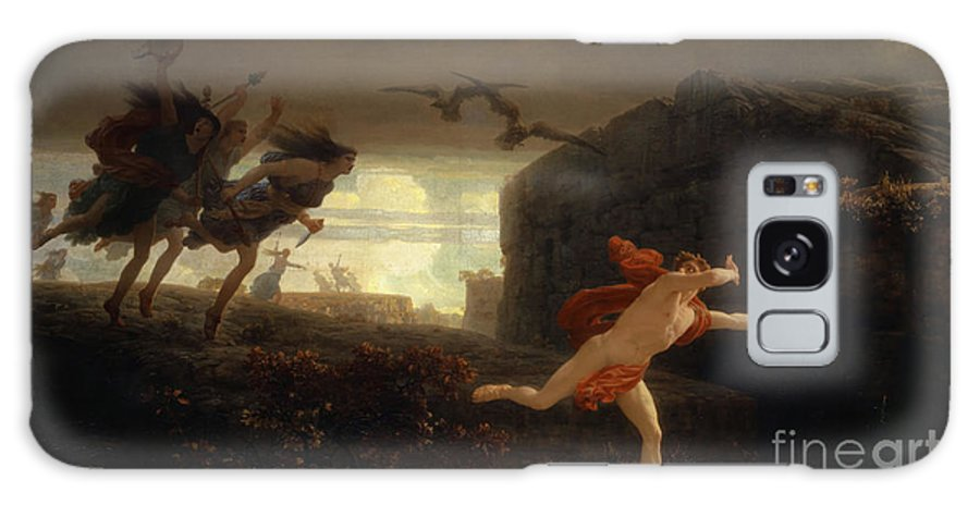 Gleyre Galaxy Case featuring the painting Pentheus Pursued By The Maenads by Charles Gleyre