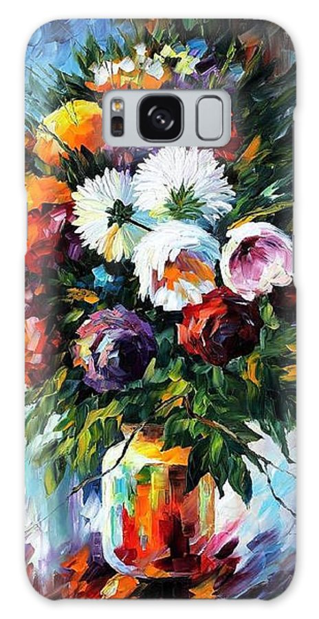 Afremov Galaxy S8 Case featuring the painting Peonies by Leonid Afremov