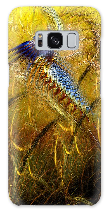 Abstract Galaxy S8 Case featuring the digital art Perils Of Genetic Engineering by Casey Kotas