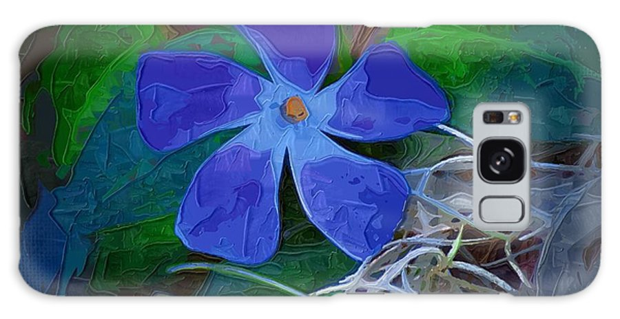 Flower Galaxy S8 Case featuring the digital art Periwinkle Blue by Donna Bentley