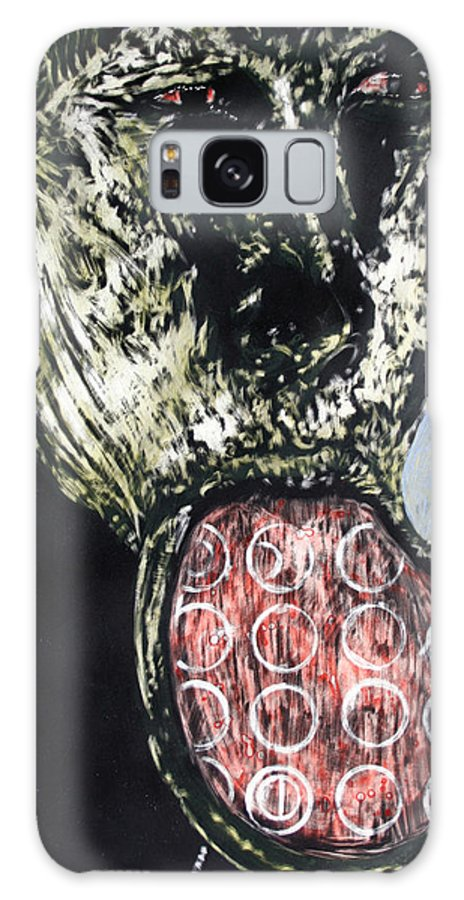 Portrait Galaxy Case featuring the mixed media Persephone by Chester Elmore