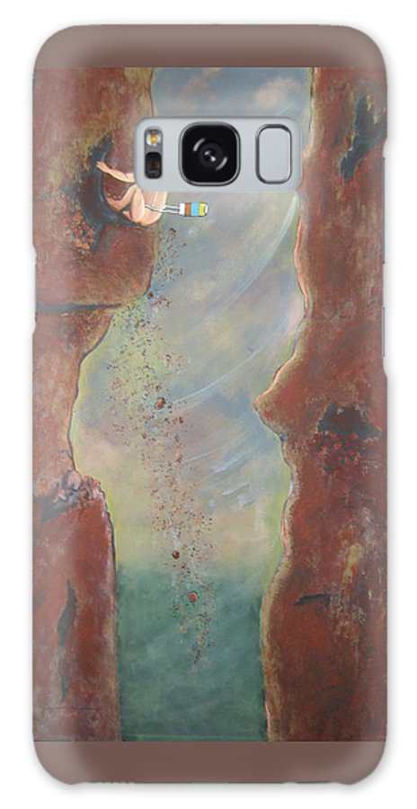 Nature Galaxy S8 Case featuring the painting Perseverance by V Boge