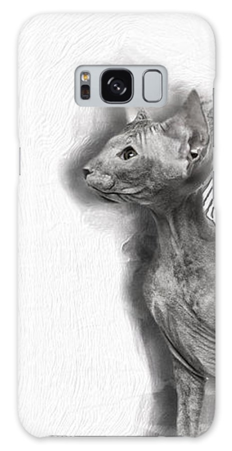 Imia Design Galaxy S8 Case featuring the digital art Peterbald Kitten 01 by Maria Astedt
