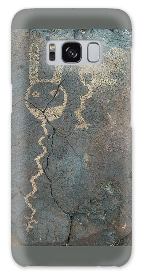 Petroglyph Galaxy S8 Case featuring the photograph Petroglyph Series 1 by Tim McCarthy
