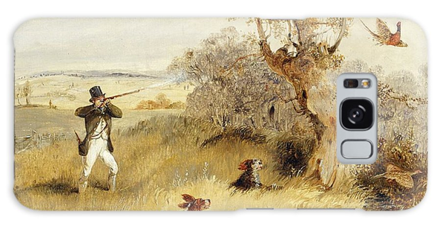 Pheasant Galaxy Case featuring the painting Pheasant Shooting by Henry Thomas Alken