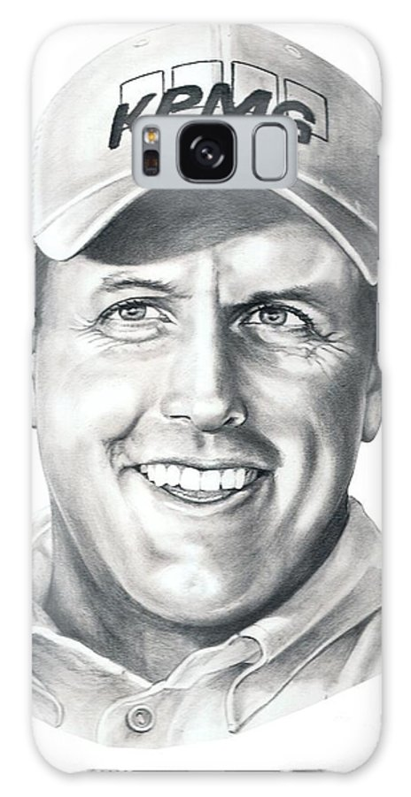 Phil Michelson Galaxy S8 Case featuring the drawing Phil Michelson by Murphy Elliott