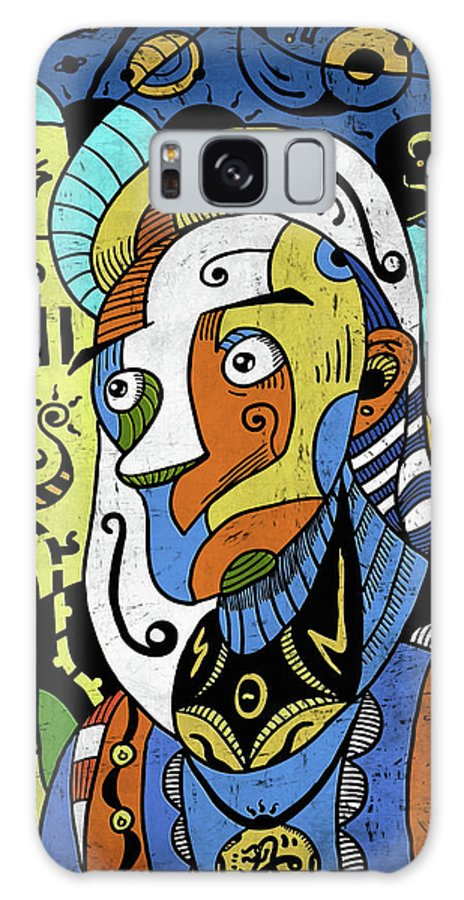 Philosopher Galaxy S8 Case featuring the digital art Philosopher by Sotuland Art