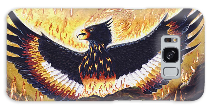 Phoenix Galaxy S8 Case featuring the painting Phoenix Rising by Melissa A Benson